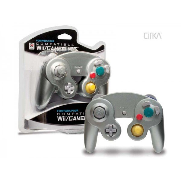 Silver Third Party Classic Gamecube Controller Gamepad for GameCube Wii
