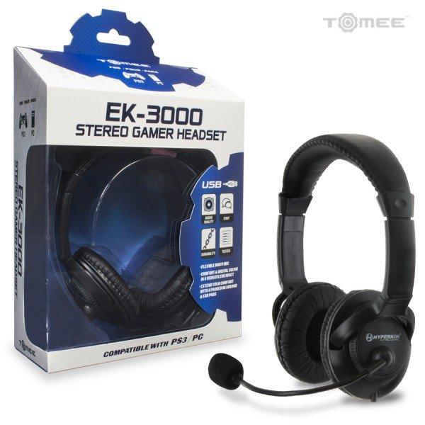 Playstation3 PS3 EK-3000 Stereo USB Gamer Headset New