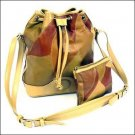Genuine Leather Patchwork Handbag