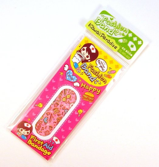 1 case kawaii FASION BAND AID bandaid bikini strawberry shoes heart 3