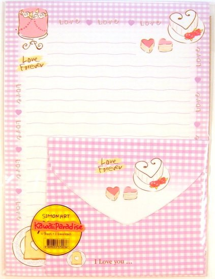simon art kawaii LOVE FOREVER heart cake shortcake LETTER SET hearts new 4