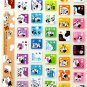 super kawaii MILK PROJECT glitter KEYBOARD STICKERS cute cow character brown NEW 1