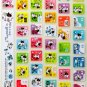 super kawaii MILK PROJECT glitter KEYBOARD STICKERS cute cow character white NEW 2