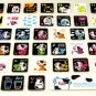 super kawaii MILK PROJECT glitter KEYBOARD STICKERS cute cow character spot NEW 4