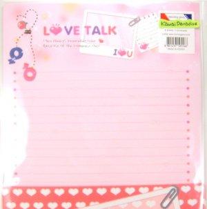 morning glory LOVE TALK cute LETTER SETS i luv u pink