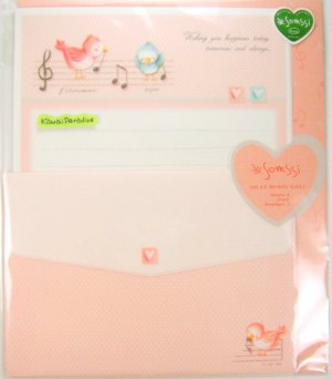 somssi WISHING YOU HAPPINESS TODAY TOMORROW AND ALWAYS kawaii LETTER SET hand applied embellishment