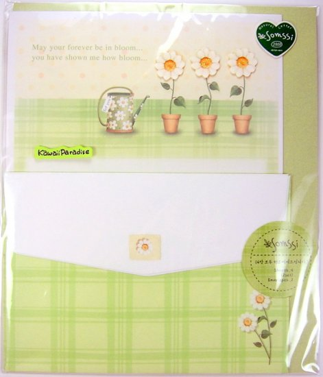 somssi MAY YOU FOREVER BE IN BLOOM kawaii LETTER SET hand applied flower embellishment