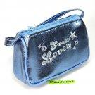 cute METALLIC COIN PURSE mini makeup pouch bag sky blue