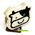 cute COW design COIN PURSE mini makeup pouch pleather