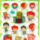 kawaii korean anime STRAWBERRY GIRL dalki glitter PUFFY STICKERS dance 1