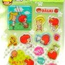 kawaii korean anime STRAWBERRY GIRL dalki glitter PUFFY STICKERS playground 3