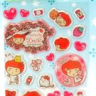 kawaii korean anime STRAWBERRY GIRL dalki glitter PUFFY STICKERS heart candy butterfly 4