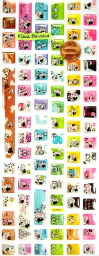 kawaii MILK PROJECT glitter epoxy KEYBOARD STICKERS fun angel cow
