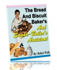 The Bread And Biscuit Baker's And Sugar-Boiler's Assistant - eBook