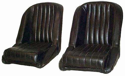 Seats Vinyl Upholstered Shelby Cobra Rat Rod Pair New