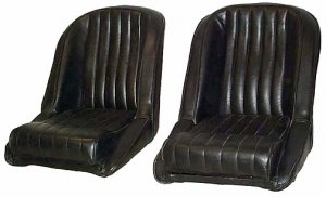 Seats Vinyl Upholstered Shelby Cobra Rat Rod Pair New