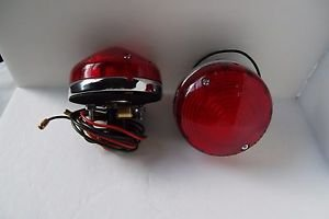 """Lights Healey Style Tail lamp Turn Signal  Red 3.25"""" Round Cobra Replica AC ACE"""