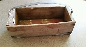Vintage Rustic Hand Made Wood Tool Box Tote Caddy True Vintage made from Sign