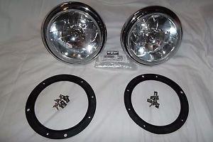 Lights Headlamps Shelby Cobra AC Mini Triumph VW MG Jaguar Austin Halogen Fluted