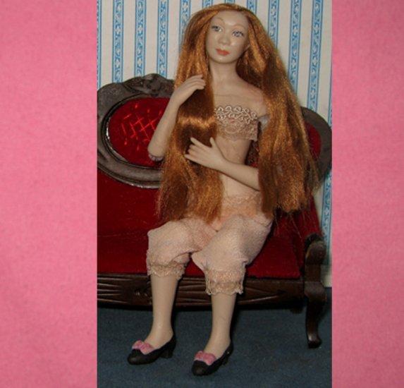 Lady Boudoir dollhouse doll