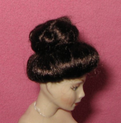 miniature doll house doll wig dollhouse