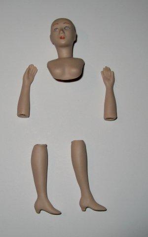 DIY doll kit porcelain dollhouse lady to make