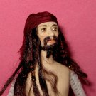 miniature porcelain dollhouse doll Jack Sparrow pirate Johnny Depp