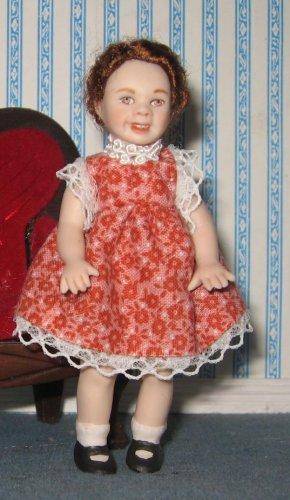 miniature porcelain dollhouse doll child