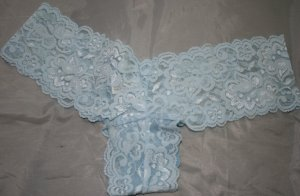 Lace Tanga Panties Baby Blue