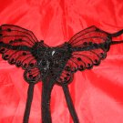 Crotchless Butterfly G-String Black