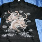 Mens black shirt with dragon design