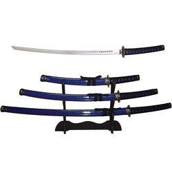Blue Samurai Sword Set