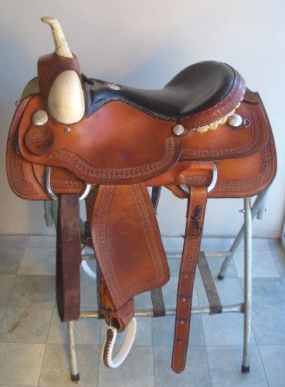 16 Rocking R Flat Seat Cutter Western Saddle