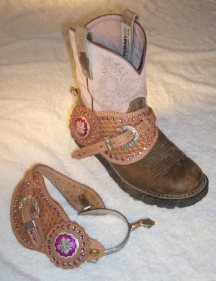 RHINESTONE Bling SPURS & STRAPS Cowgirl Western Show