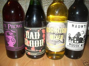 Halloween Soda Size Bottle Labels Stickers Lot of 8