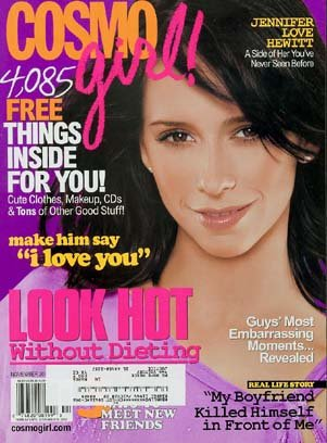 Cosmo Girl Magazine Jennifer Love Hewitt Nov 2002