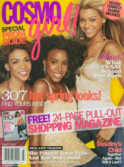 Cosmo Girl Magazine March 2005 Destiny's Child