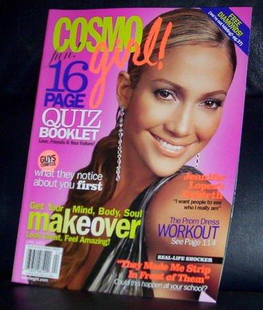 Cosmo Girl Magazine April 2005 Jennifer Lopez