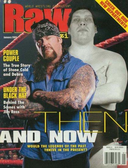 WWE WWF Raw Magazine January 2002 Undertaker