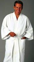 Diamond Waffle Kimono Robe OSFA White