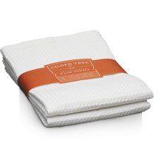 Waffle Weave Hand Towel, White - Set of Two