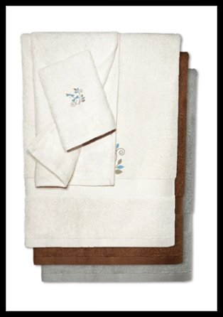 Bamboo Embroidered Towels - Winter Dragonfly