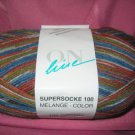 On Line Supersocke 100  sock yarn Melange #980 100gr