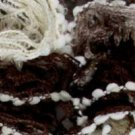 Katia Rocio #401 brown/tan loop ruffle scarf yarn