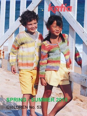 Katia #53 spring 2010 children fashion knitting pattern