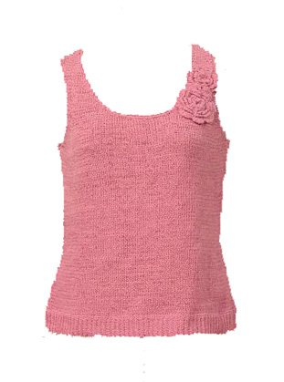 August Silk Pink Sweater Tank Sz Large
