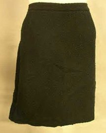 INC Black Boucle Knee Length Skirt Sz 14