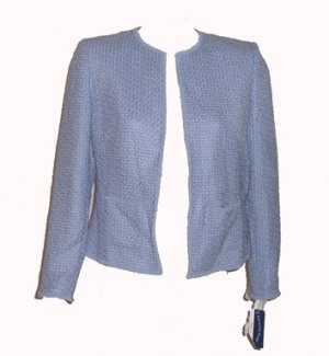 Charter Club Lilac Boucle Blazer Jacket Sz 14