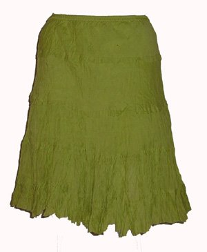 Overdrive Bohemian Look Lime Skirt  Sz X-Large
