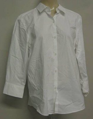Charter Club White Button Down Top Sz 8